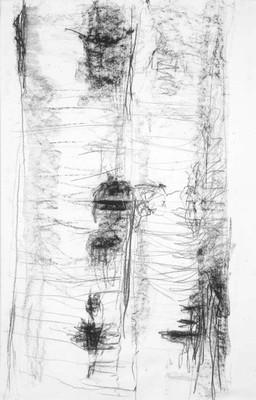 """""""Stam II"""", teckning på papper (74x48 cm)"""