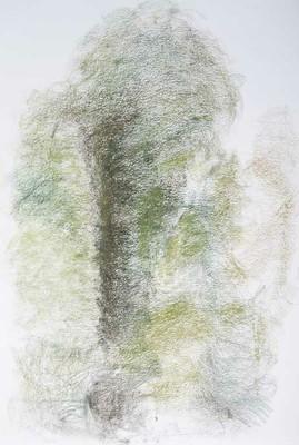 """Kastanjen, från bron"", pastell (58x39 cm)"