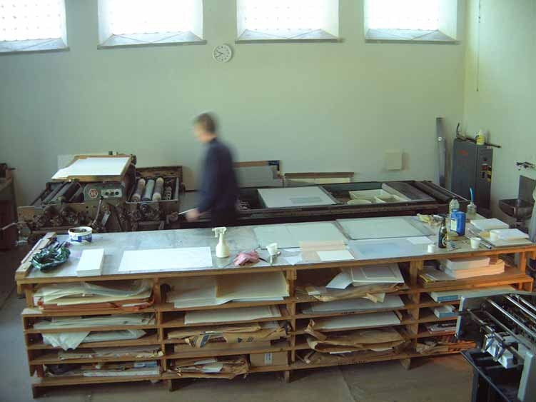 Lithography workshop at Ålgården